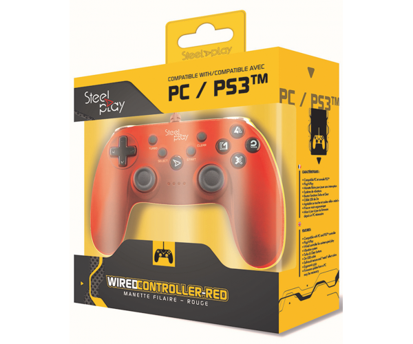 Steelplay Wired Controller Metallic Red - PC