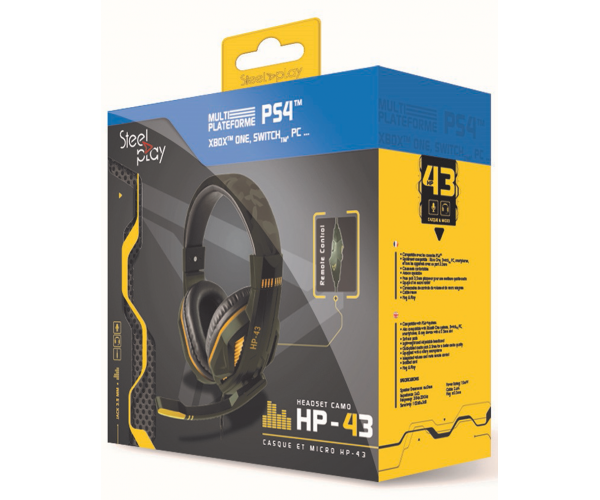 Steelplay HP-43 Gaming Headset Green Camo - PS4 / Switch / Xbox One / PC