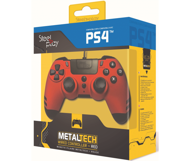 Steelplay MetalTech Wired Controller - Ruby Red