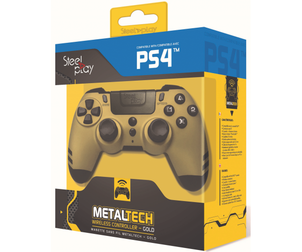 Steelplay MetalTech Wireless Controller - Gold