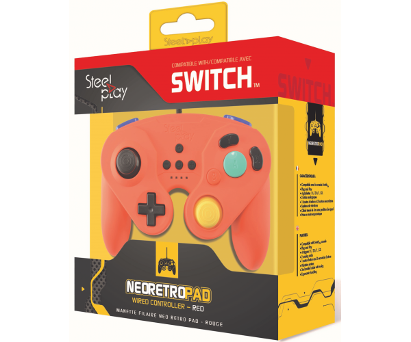 Steelplay Wired Neo Retro Controller Red - Switch