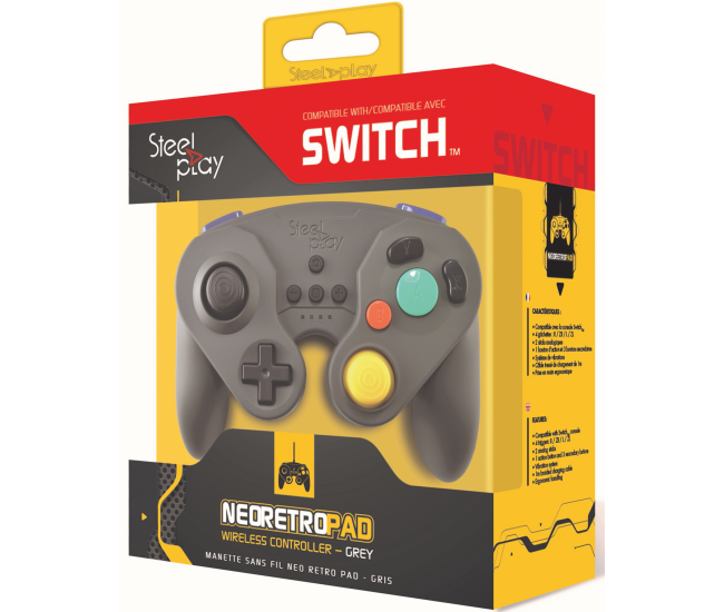 Steelplay Wireless Neo Retro Controller Grey - Switch