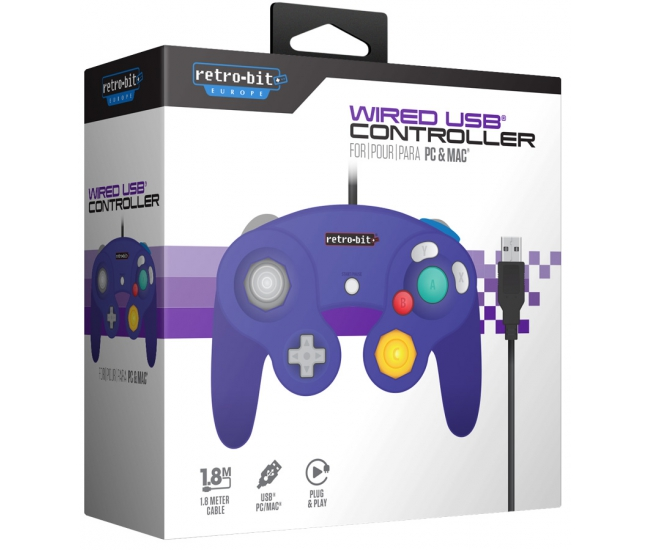 Retro-Bit GameCube USB Controller - Purple