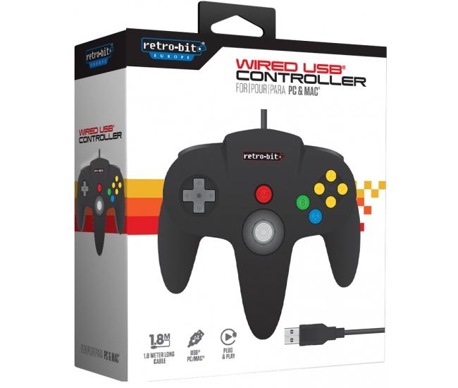 Retro-Bit N64 USB Controller -Black