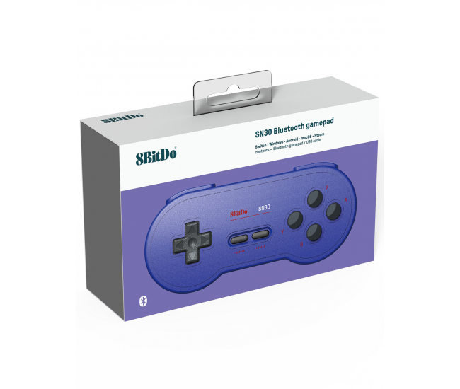 8BitDo SNES 30 Bluetooth Controller GB Pocket Blue Edition
