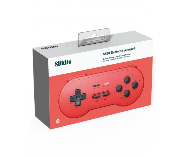 8BitDo SNES 30 Bluetooth Controller GB Pocket Red Edition