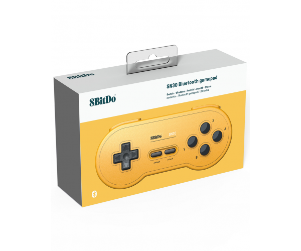 8BitDo SNES 30 Bluetooth Controller GB Pocket Yellow Edition