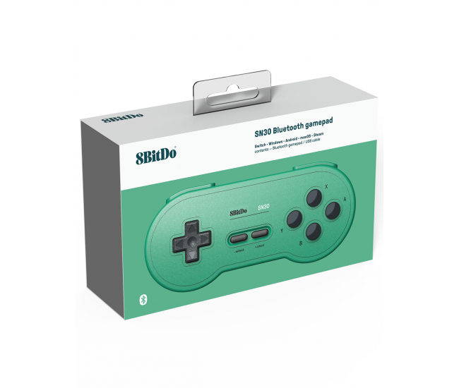 8BitDo SNES 30 Bluetooth Controller GB Pocket Green Edition