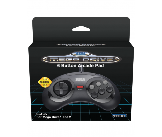 Retro-Bit SEGA Mega Drive 6-Button Classic Controller Black