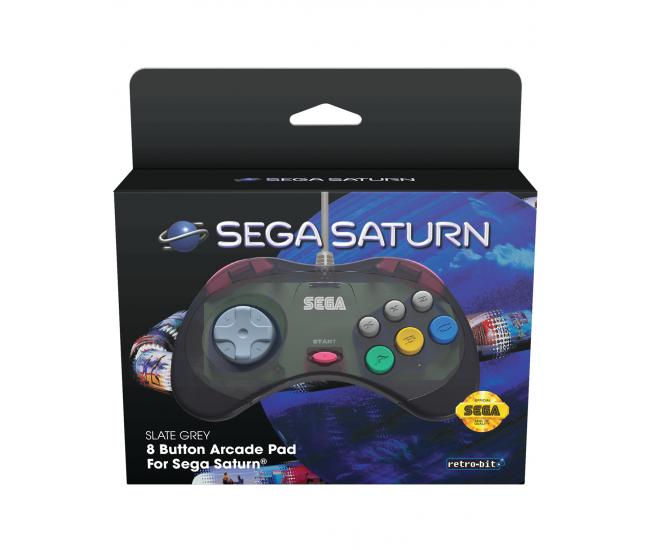 Retro-Bit SEGA Saturn Classic Controller Slate Grey