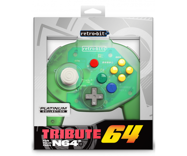 Retro-Bit N64 Tribute Controller Forest Green