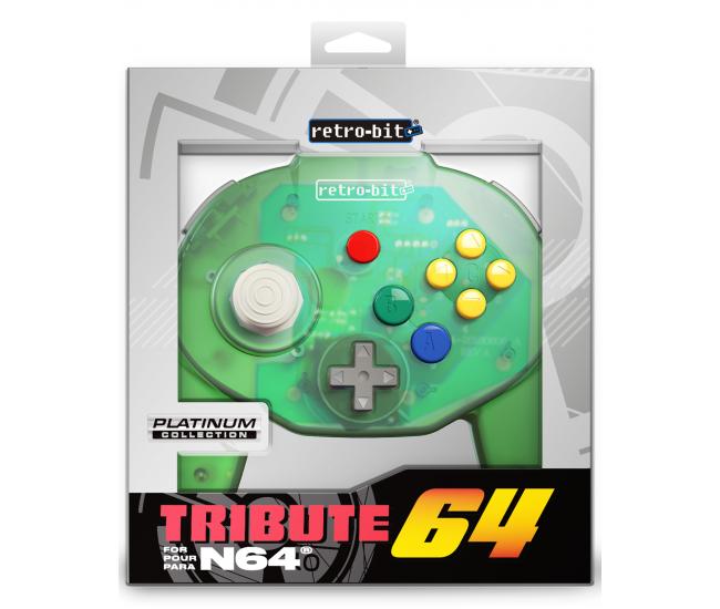 Retro-Bit N64 Tribute Controller Forest Green