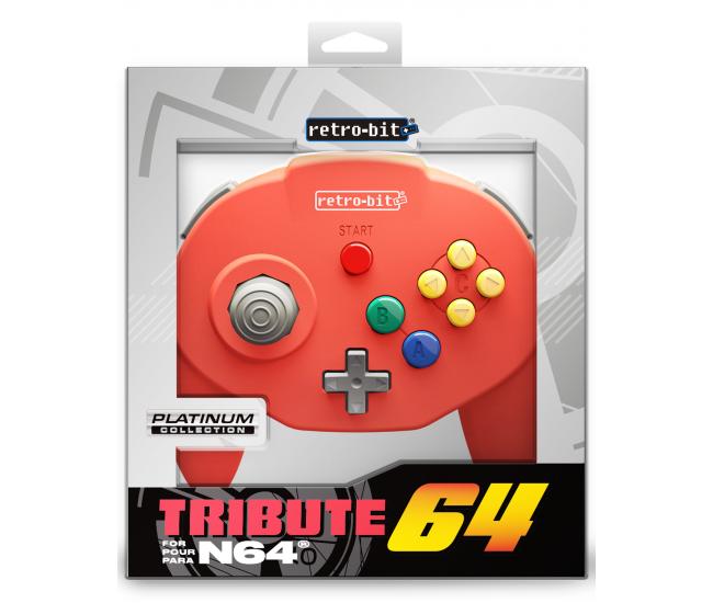 Retro-Bit N64 Tribute Controller Red
