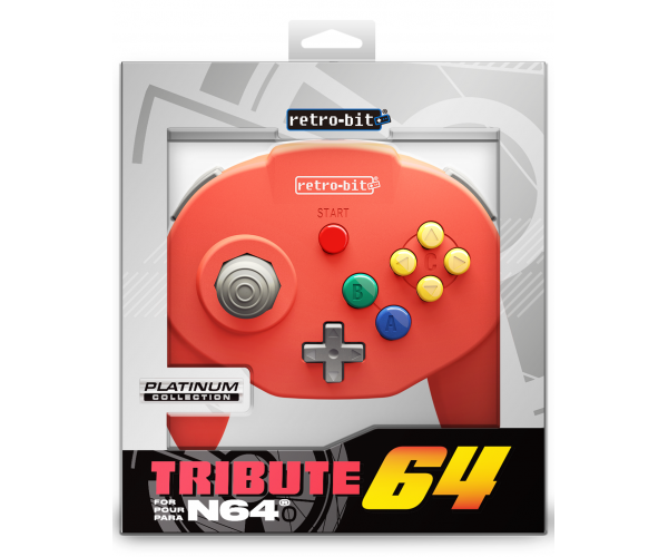 Retro-Bit N64 Tribute Controller Red