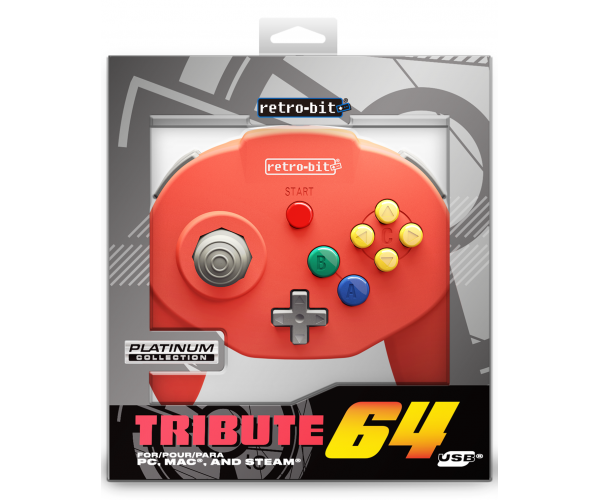 Retro-Bit N64 Tribute USB Controller Red